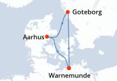 Warnemunde, Navigation, Goteborg, Aarhus, Warnemunde