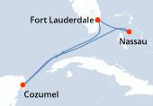 Fort Lauderdale, Navigation, Cozumel, Navigation, Nassau, Fort Lauderdale