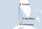 Tampa, Key West, La Havane, La Havane, Navigation, Navigation, Tampa