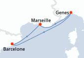Marseille, Genes, Barcelone, Marseille
