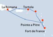Pointe a Pitre, Navigation, La Romana, La Romana, Tortola, Philipsburg (Saint Martin), Fort de France, Pointe a Pitre