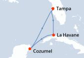 Tampa, Navigation, La Havane, Cozumel, Navigation, Tampa