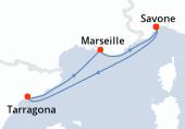 Savone, Navigation, Tarragona, Marseille, Savone