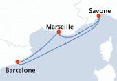 Savone, Navigation, Barcelone, Marseille, Savone