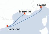 Marseille, Barcelone, Savone
