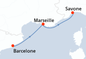 Barcelone, Marseille, Savone