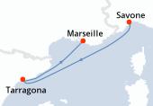 Savone, Navigation, Tarragona, Marseille