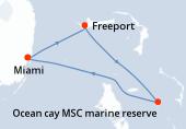 Miami, Freeport, Ocean cay MSC marine reserve, Miami