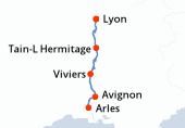 Lyon, Arles, Avignon, Viviers, Tain-L Hermitage, Lyon