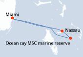 Miami, Navigation, Nassau, Ocean cay MSC marine reserve, Miami