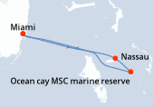Miami, Nassau, Ocean cay MSC marine reserve, Miami