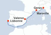 Lisbonne, Navigation, Valence, Marseille, Genes