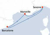 Marseille, Savone, Barcelone, Marseille