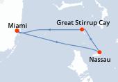Miami, Nassau, Great Stirrup Cay, Miami