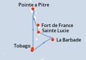 Pointe a Pitre, Navigation, Tobago, Saint George (Grenade), La Barbade, Sainte Lucie, Fort de France, Pointe a Pitre