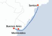 Santos, Navigation, Navigation, Buenos Aires, Buenos Aires, Montevideo, Navigation, Navigation, Santos