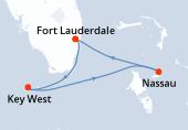 Fort Lauderdale, Key West, Navigazione, Nassau, Fort Lauderdale
