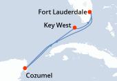 Fort Lauderdale, Navigazione, Cozumel, Navigazione, Key West, Fort Lauderdale