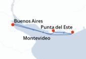 Buenos Aires, Punta del Este, Montevideo, Buenos Aires