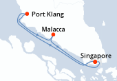Singapore, Port Klang, Malacca, Singapore