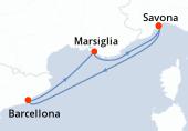 Savona, Navigazione, Barcellona, Marsiglia, Savona