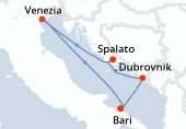 Bari, Kotor, Spalato, Venezia, Bari