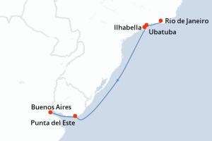 Rio de Janeiro, Ubatuba, Ilhabella, Ilhabella, Navigazione, Navigazione, Punta del Este, Buenos Aires