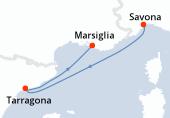 Savona, Navigazione, Tarragona, Marsiglia