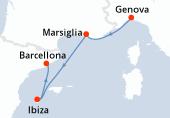 Genova, Marsiglia, Ibiza, Barcellona