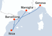 Marsiglia, Ibiza, Barcellona, Genova