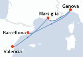 Valencia, Marsiglia, Genova, Barcellona