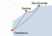 Santos, Camboriú, Navigazione, Ilha Grande, Santos