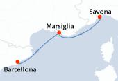 Savona, Marsiglia, Barcellona