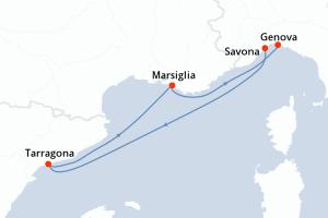Savona, Tarragona, Marsiglia, Genova