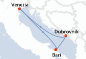 Bari, Dubrovnik, Venezia, Bari
